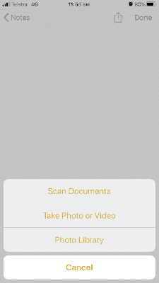 Notes Scanning capability on Iphone